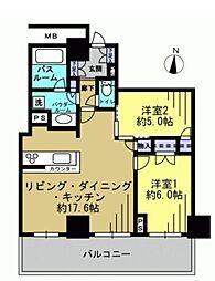 サンコリーヌタワー横須賀中央駅前[2608号室]の間取り