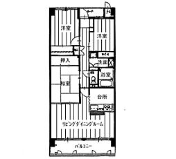 KDXレジデンス茨木II(旧:レガーロ茨木II)[0302号室]の間取り