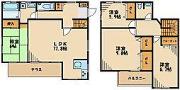 [一戸建] 東京都町田市能ヶ谷7丁目 の賃貸【/】の間取り