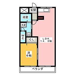 ホワイトレジデンス前並[3階]の間取り