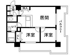 UURコート札幌北三条 11階2LDKの間取り