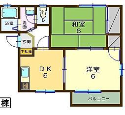 クレール飯田[B102号室]の間取り