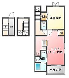 ポテトハイムA[3階]の間取り