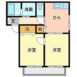オネストA102[1階]の間取り
