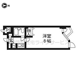 DETOM−1東山レディース305[3階]の間取り