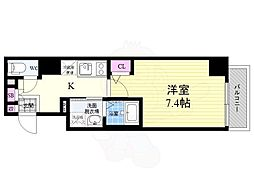 京福電気鉄道嵐山本線 嵐電天神川駅 徒歩20分の賃貸マンション 2階1Kの間取り