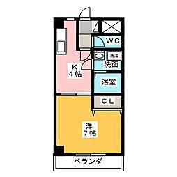 コム シェ ソワ[4階]の間取り