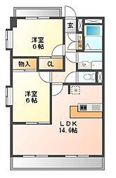 サンモールU[2階]の間取り