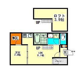 野田一丁目(3)A・SKHコーポ[2階]の間取り