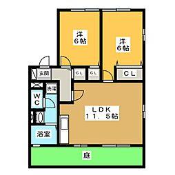 パティオ岩崎台[1階]の間取り