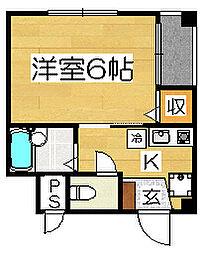 ルミライズ堺[2階]の間取り
