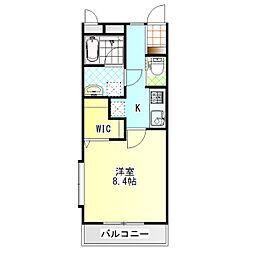 ジ・アパートメント下堀[301号室]の間取り