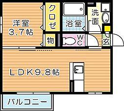 ウィットエイト[2階]の間取り