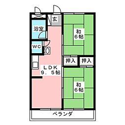 別府住宅[1階]の間取り