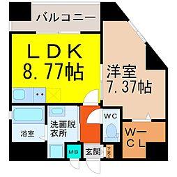 YOSHINO SQUARE(ヨシノスクエア)[802号室]の間取り