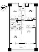 隣室を使えば20.3帖の広々LDKとして利用ができます。