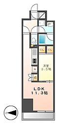 CORNES HOUSE NAGOYA[8階]の間取り