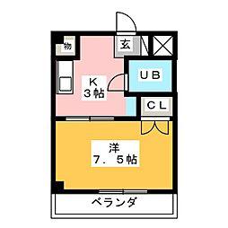 ベストハイツ三ツ井公園[4階]の間取り