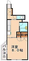 ベルエール片江[1階]の間取り