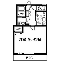 ゼフィールARAI[205号室]の間取り