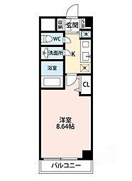 AZURE ESAKA[3階]の間取り