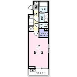 JR大阪環状線 鶴橋駅 徒歩11分の賃貸アパート 2階1Kの間取り
