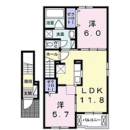 エスポサA[2階]の間取り