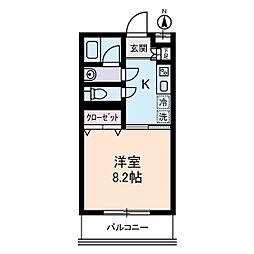 adagio[2階]の間取り