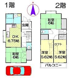 [一戸建] 埼玉県春日部市西金野井 の賃貸【/】の間取り