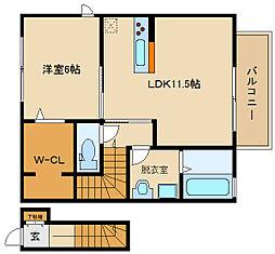 近鉄南大阪線 藤井寺駅 徒歩25分の賃貸アパート 1階1LDKの間取り