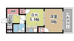 ライオンズスクエア神戸元町[9階]の間取り