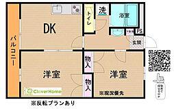 神奈川県相模原市緑区原宿南2の賃貸アパートの間取り