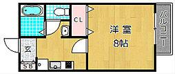 ア・リープガーデン B棟[2階]の間取り