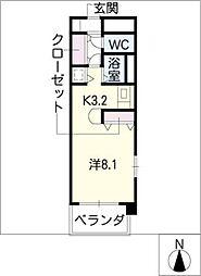 ラナ・清水野[1階]の間取り