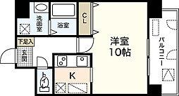BAUHAUS広島駅NO.14 7階ワンルームの間取り