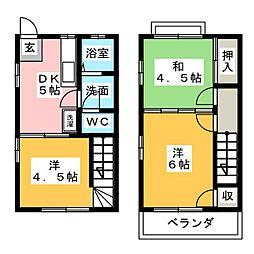 [テラスハウス] 静岡県富士宮市淀師 の賃貸【/】の間取り
