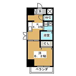 エステムコート京都駅前KOTO[10階]の間取り
