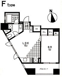 東京都港区西麻布3丁目の賃貸マンションの間取り