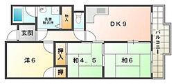 守口コーポ[2階]の間取り