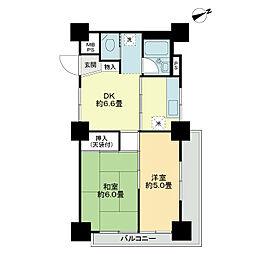 川口ファミリーマンション[2階]の間取り