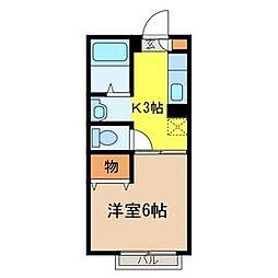 埼玉県さいたま市岩槻区東町1丁目の賃貸アパートの間取り