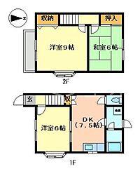 [テラスハウス] 兵庫県小野市神明町 の賃貸【/】の間取り