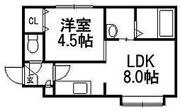 仮)dole tukisamu[401号室]の間取り