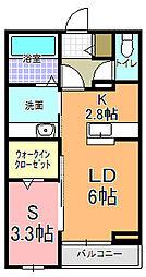仮)元吉田アパート[101号室]の間取り