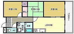 フローラルマンション[3階]の間取り