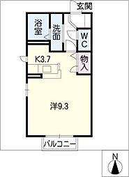 ツインフォレストB棟[2階]の間取り