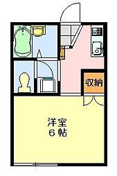 シャトレーヤハギ[2階]の間取り