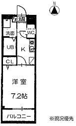 サニーコート松軒[1階]の間取り