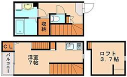 福岡県福岡市博多区板付7丁目の賃貸アパートの間取り
