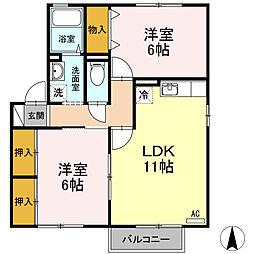 ボナール・kei 弐番館[2階]の間取り